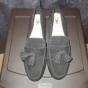 Black Suede Cole Haan Pinch Loafers 9B